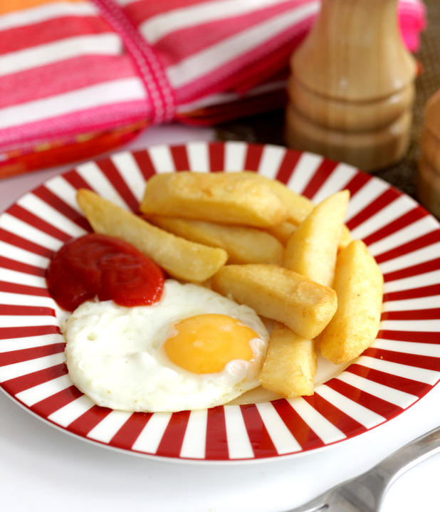 Plate of egg and chips - Katey Loughran ate only egg and chips for 30 years